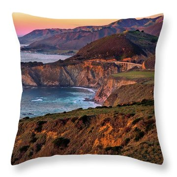 Sunset View From Hurricane Point Throw Pillow