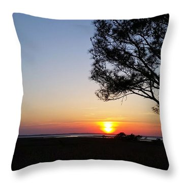 Sunset View From Knights Of Columbus' Deck Throw Pillow