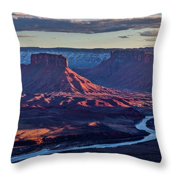 Sunset View From Omg Point Throw Pillow