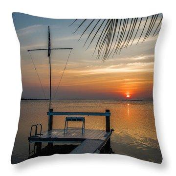 Sunset Villa Throw Pillow