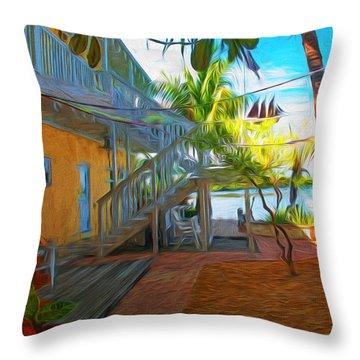 Sunset Villas Patio Throw Pillow