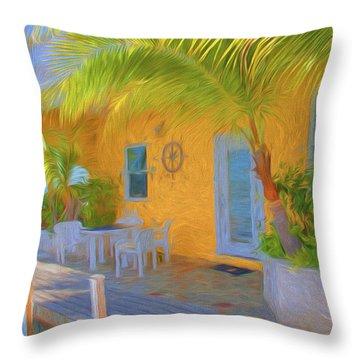 Sunset Villas Waterfront Apartment Throw Pillow