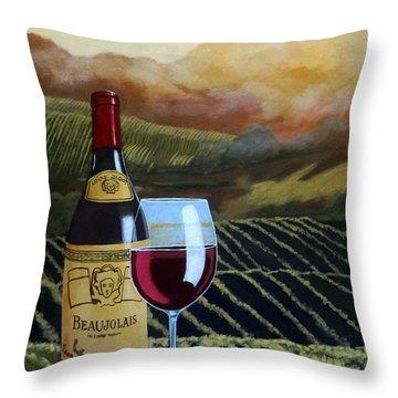 Sunset W/beaujolais Throw Pillow