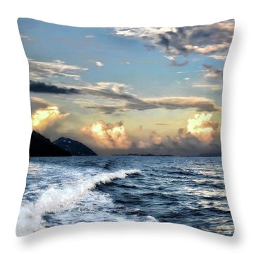 Sunset Wake Throw Pillow