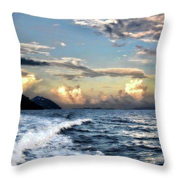 Sunset Wake Throw Pillow