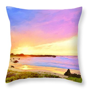 Sunset Walk Throw Pillow by Dominic Piperata