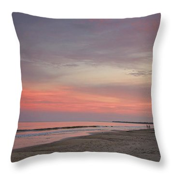 Throw Pillow featuring the photograph Sunset Walk by Sally Simon