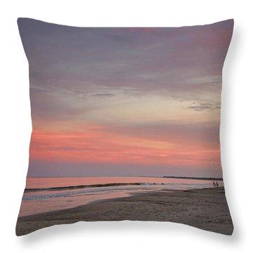 Sunset Walk Throw Pillow