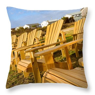 Throw Pillow featuring the photograph Sunset Watch by T Brian Jones