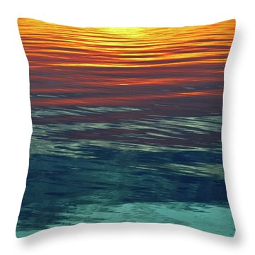 Sunset Water  Throw Pillow