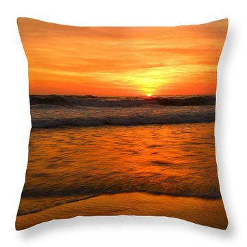 Cardiff Waves Throw Pillow