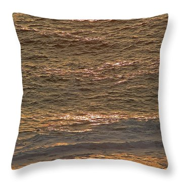Sunset Waves Over Carmel Beach Throw Pillow