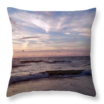 Sunset Waves  Throw Pillow by Vicky Tarcau