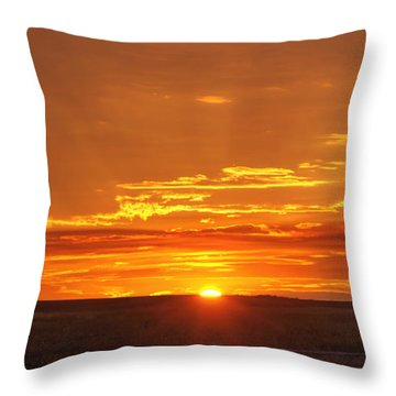 Sunset Windmill 02 Throw Pillow