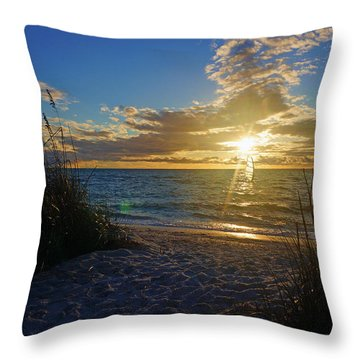 Sunset Windsurfer Throw Pillow