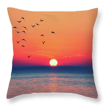 Sunset Wishes Throw Pillow