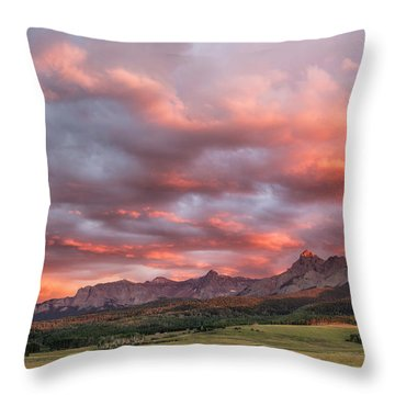 Sunset With Rain Clouds Throw Pillow