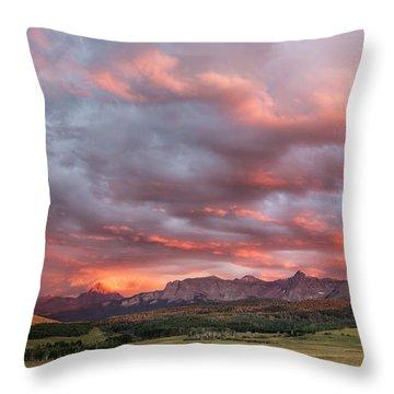 Sunset With Rain Clouds Throw Pillow