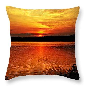 Sunset Xxiii Throw Pillow by Joe Faherty