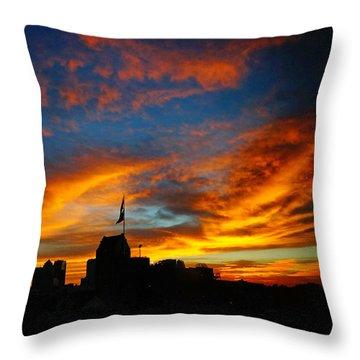 Sunset Ybor City Tampa Florida Throw Pillow