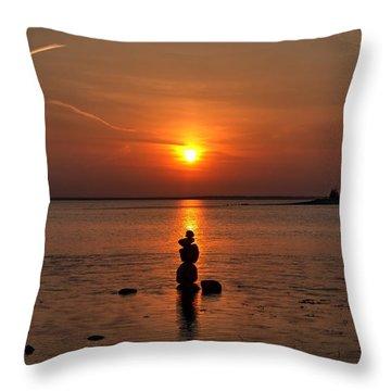 Sunset Zen Throw Pillow