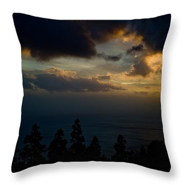 Throw Pillow featuring the photograph Sunset,beauty by Joseph Amaral