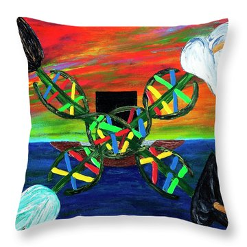 Sunseth In Atlantis Throw Pillow