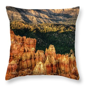 Sunsets In The Canyon Throw Pillow by Rebecca Hiatt