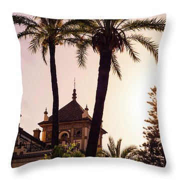 Sunsets Of Seville  Throw Pillow