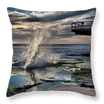 Sunsets Show Throw Pillow