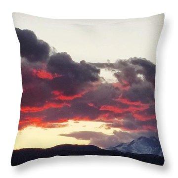 Warm Sky Cold Mountain 2 Throw Pillow
