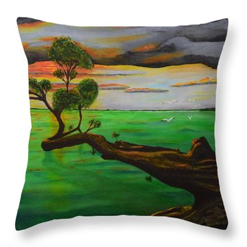 Sunsetting Throw Pillow by Melvin Turner
