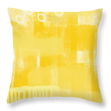 Sunshine- Abstract Art Throw Pillow