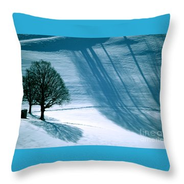Throw Pillow featuring the photograph Sunshine And Shadows - Winterwonderland by Susanne Van Hulst