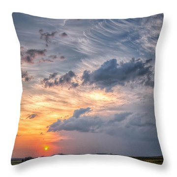 Sunshine And Storm Clouds Throw Pillow