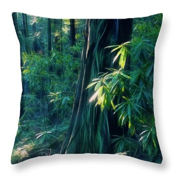 Sunshine In The Forest Throw Pillow