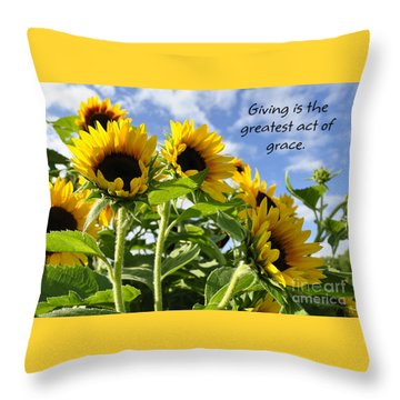 Throw Pillow featuring the photograph Sunshine Lollipops Grace by Diane E Berry