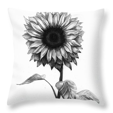 Flower Drawings Throw Pillows