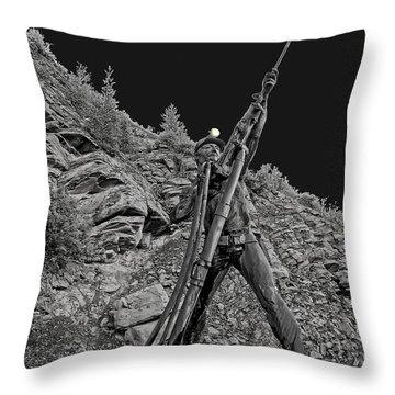 Sunshine Mine Fire Monument - Idaho State Throw Pillow