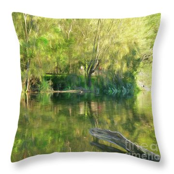 Throw Pillow featuring the photograph Sunshine On Nature By Kaye Menner by Kaye Menner