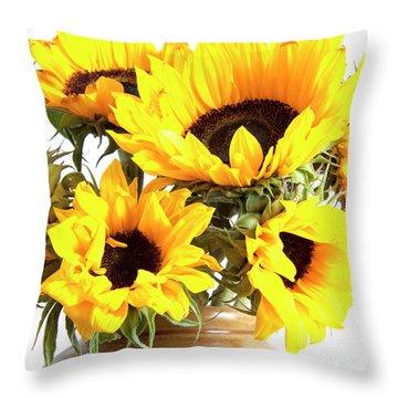 Sunshine Sunflowers Throw Pillow