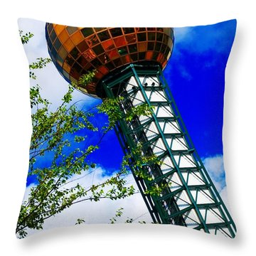 Throw Pillow featuring the photograph Sunsphere Knoxville 2 by Bob Pardue