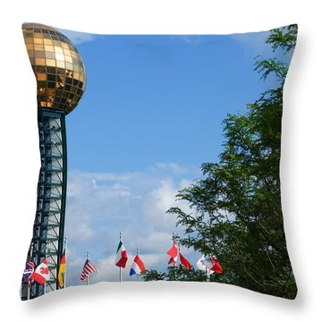 Throw Pillow featuring the photograph Sunsphere Knoxville by Bob Pardue