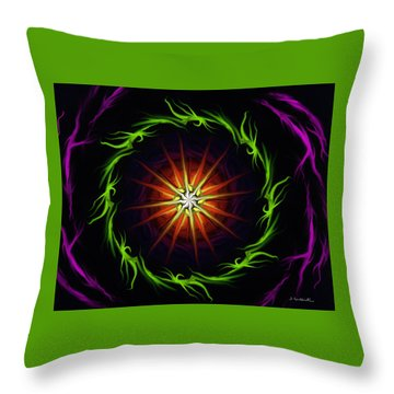 Sunstar Throw Pillow by Jennifer Galbraith