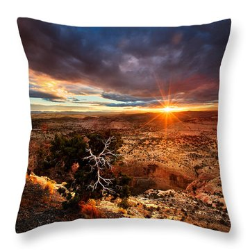 Sunstar Over The Escalante Throw Pillow