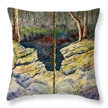 Throw Pillow featuring the painting Sunstruck by Carolyn Rosenberger