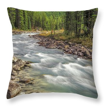 Throw Pillow featuring the photograph Sunwapta River 2005 01 by Jim Dollar