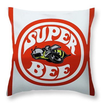 Throw Pillow featuring the photograph Super Bee Emblem by Mike McGlothlen