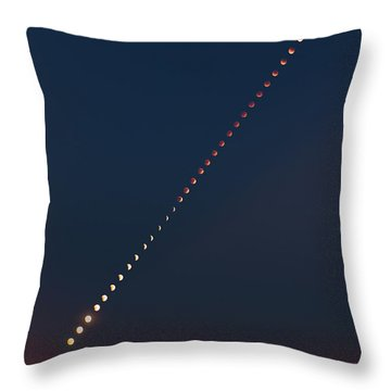 Super Blood Lunar Eclipse Throw Pillow