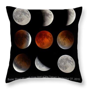 Super Blood Moon Eclipse Throw Pillow